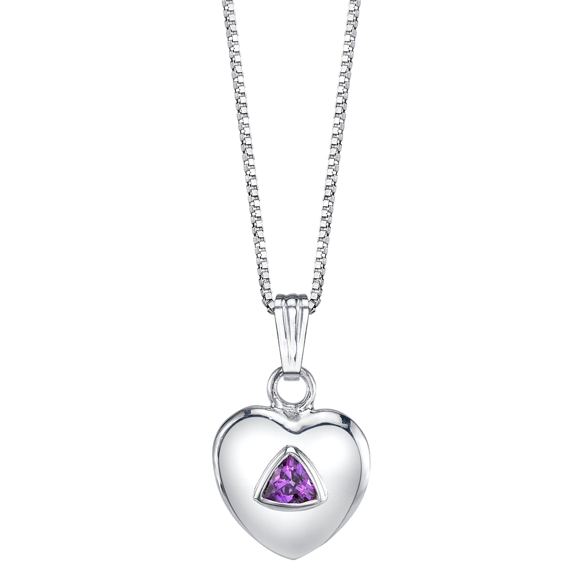 Bezel Set Trillion Heart Pendant