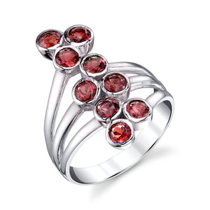 Nine Stone Bubble Ring