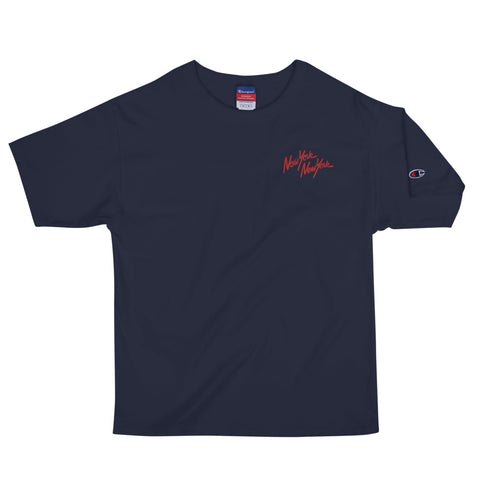 EMBROIDERED CLASSIC LOGO CHAMPION T-SHIRT