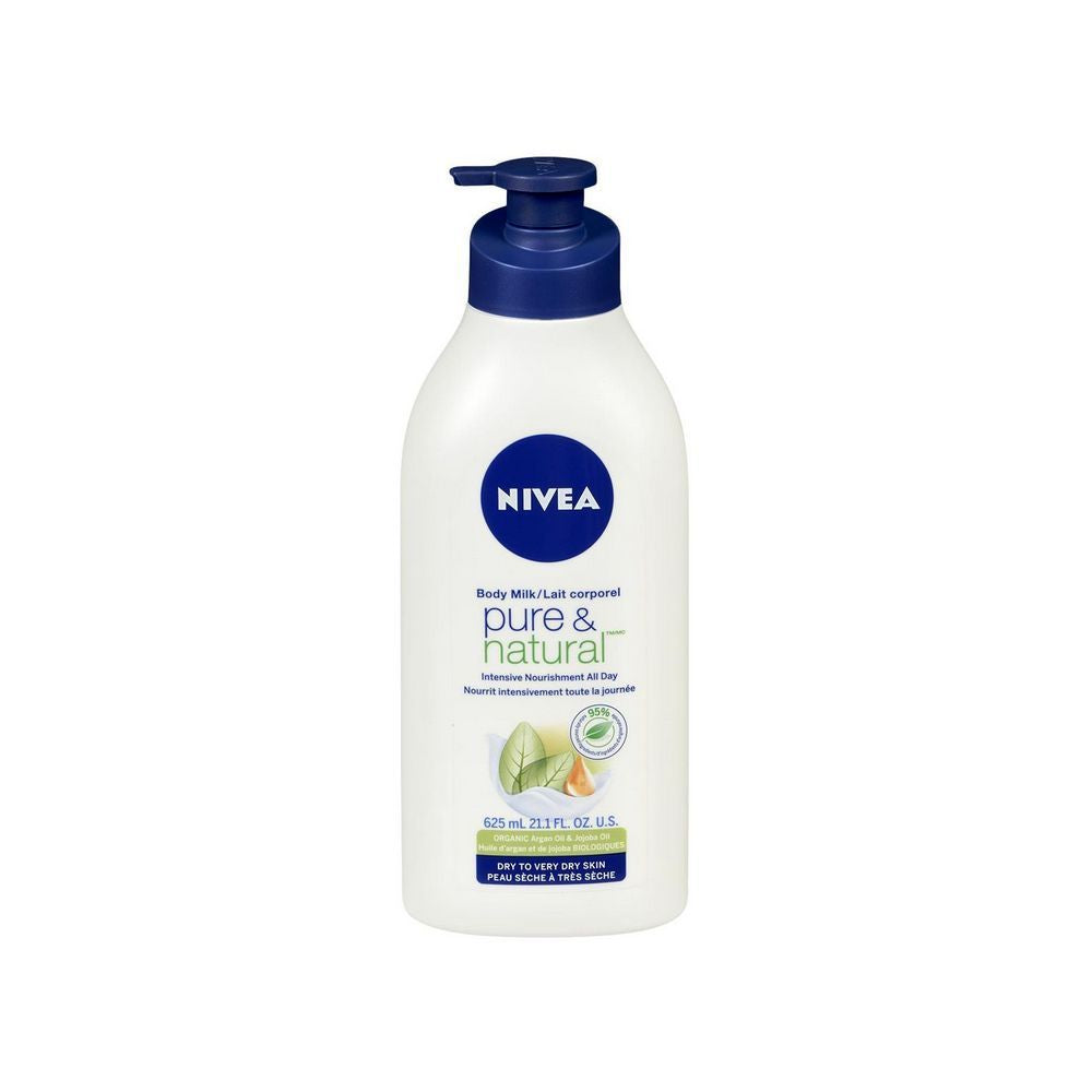NIVEA Body Milk Pure & Natural 625mL