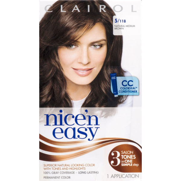 Clairol Nice N Easy 118, Natural Medium Brown