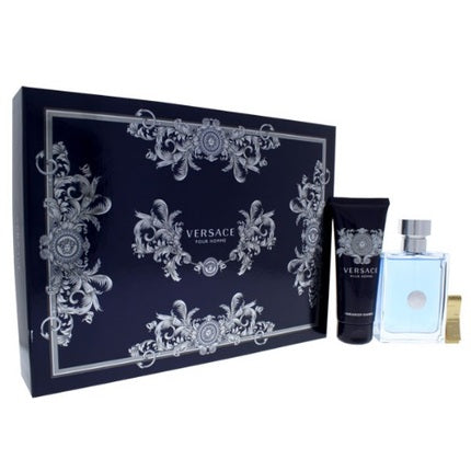 Versace Pour Homme Gift Set for Men 2pc + Money Clip