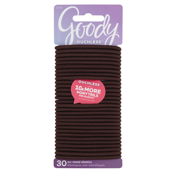Goody 33pcs Hair Ties (Chocolate Cake/dark brown)