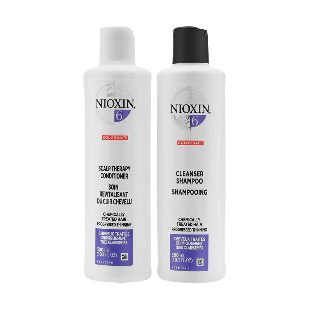 Nioxin System 6 Duo Cleanser Shampoo + Scalp Therapy Conditioner 300ml