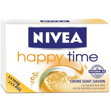 NIVEA Happy Time Cream Soap Caring Bamboo Milk 2x100g