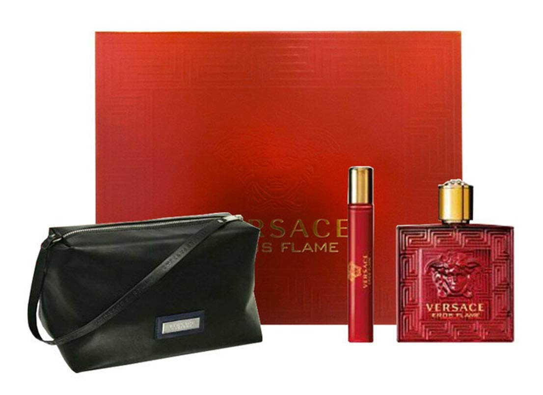 Versace Eros Flame 100mL Gift Set 3pc with Bag