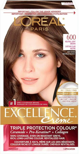 L'Oreal Paris 600 Excellent Creme, 600 Neutral Light Brown