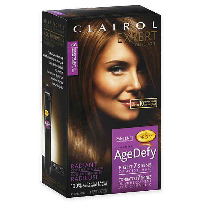 Clairol Expert Collection Age Defy Hair Color in 6G Light Golden Brown