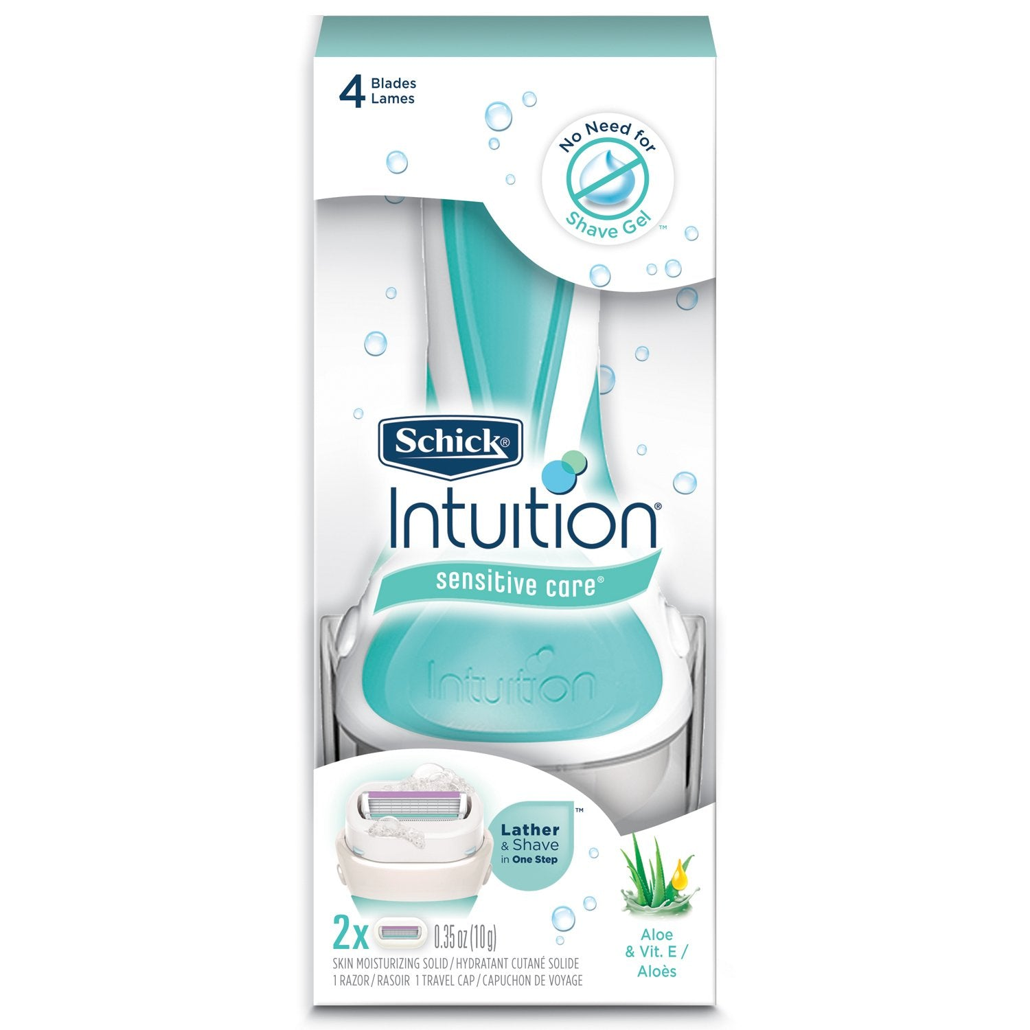 SCHICK Intuition Lather and Shave Sensitive Care 4 blades