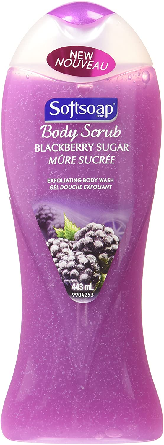 Softsoap Body Scrub Blackberry Sugar 443mL