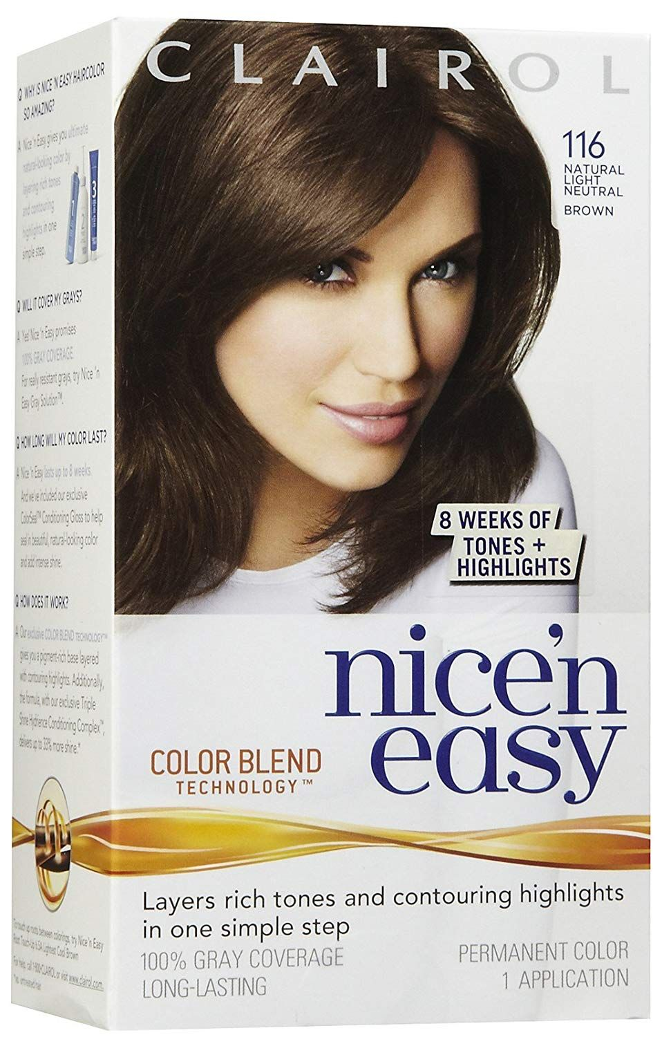 Clairol 116 Natural Light Brown