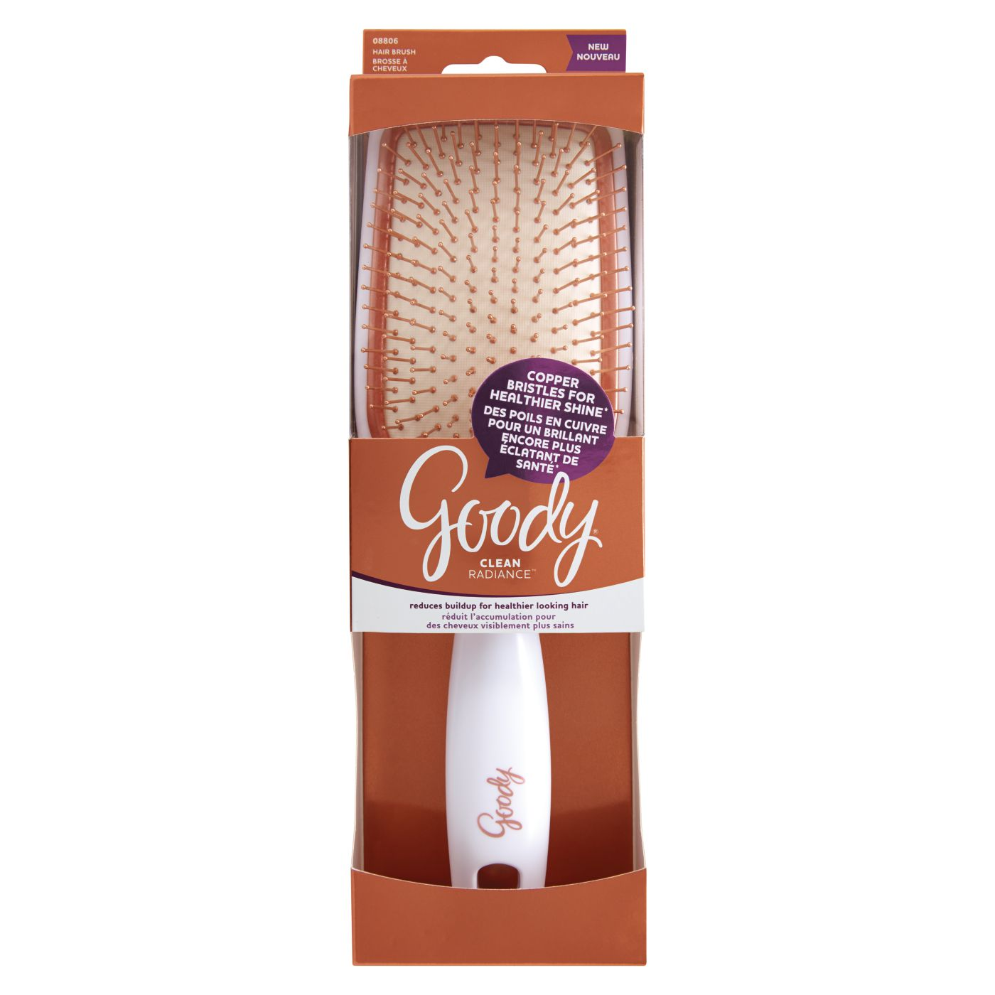Goody Clean Radiance Square Paddle Brush Copper