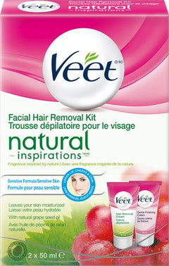 Veet Facial Hair Removal Cream Kit Sensitive Formula 2 X 50ml