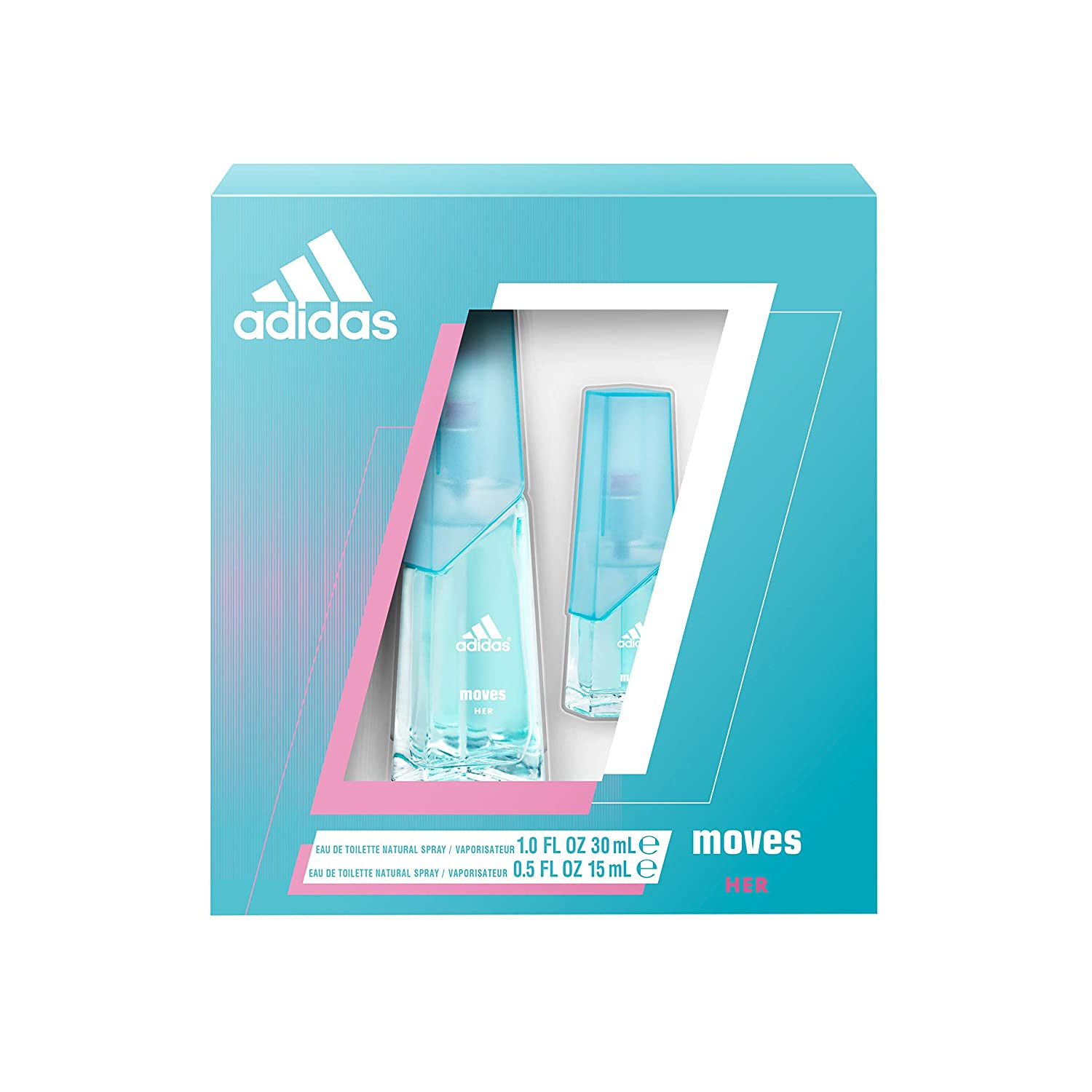 Adidas Moves for Her Gift Set 2pc 30ml + 15ml
