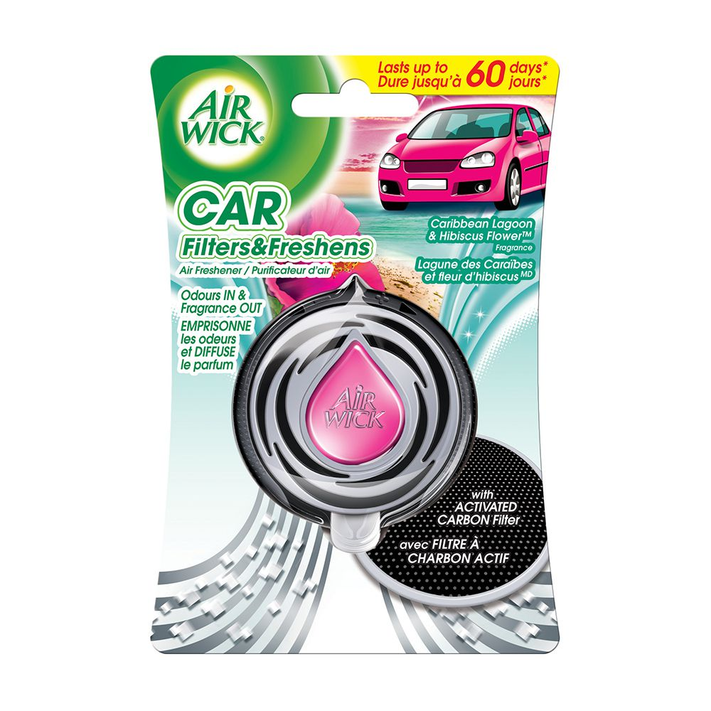 Air Wick Car Air Freshener (Caribbean Lagoon & Hibiscus Flower) 3ml