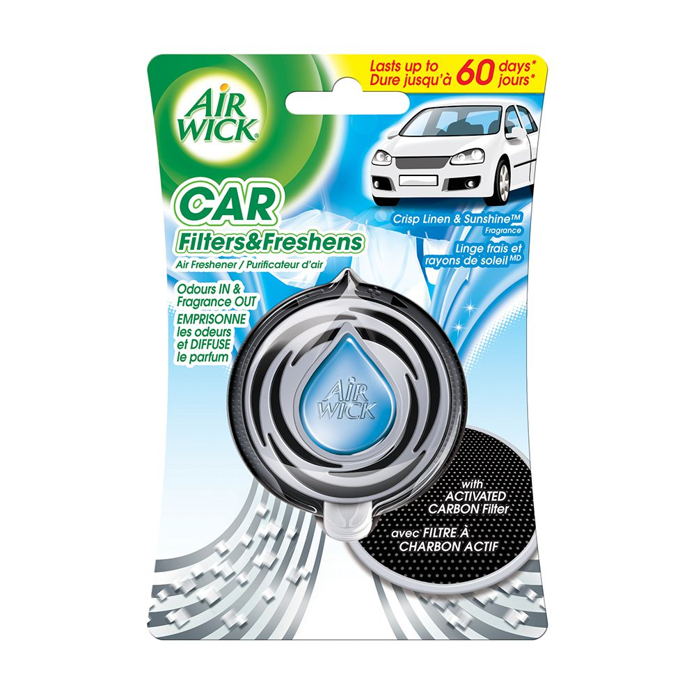 Air Wick Car Air Freshener (Crisp Linen & Sunshine) 3ml