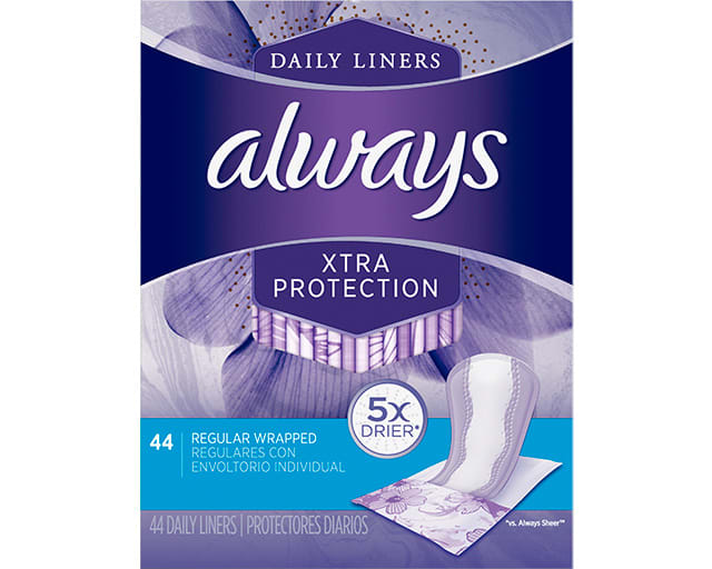 Always Xtra protection 44 Daily Liners