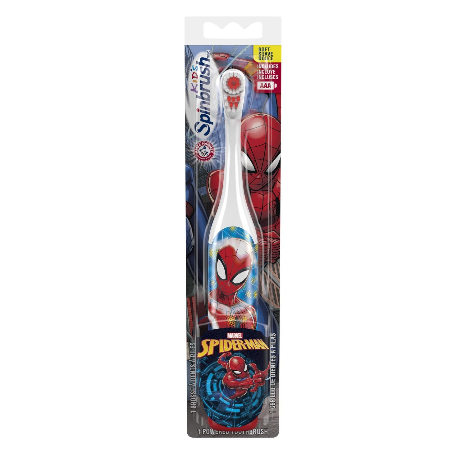 Arm and Hammer Kids Spinbrush Marvel Spider-Man Toothbrush