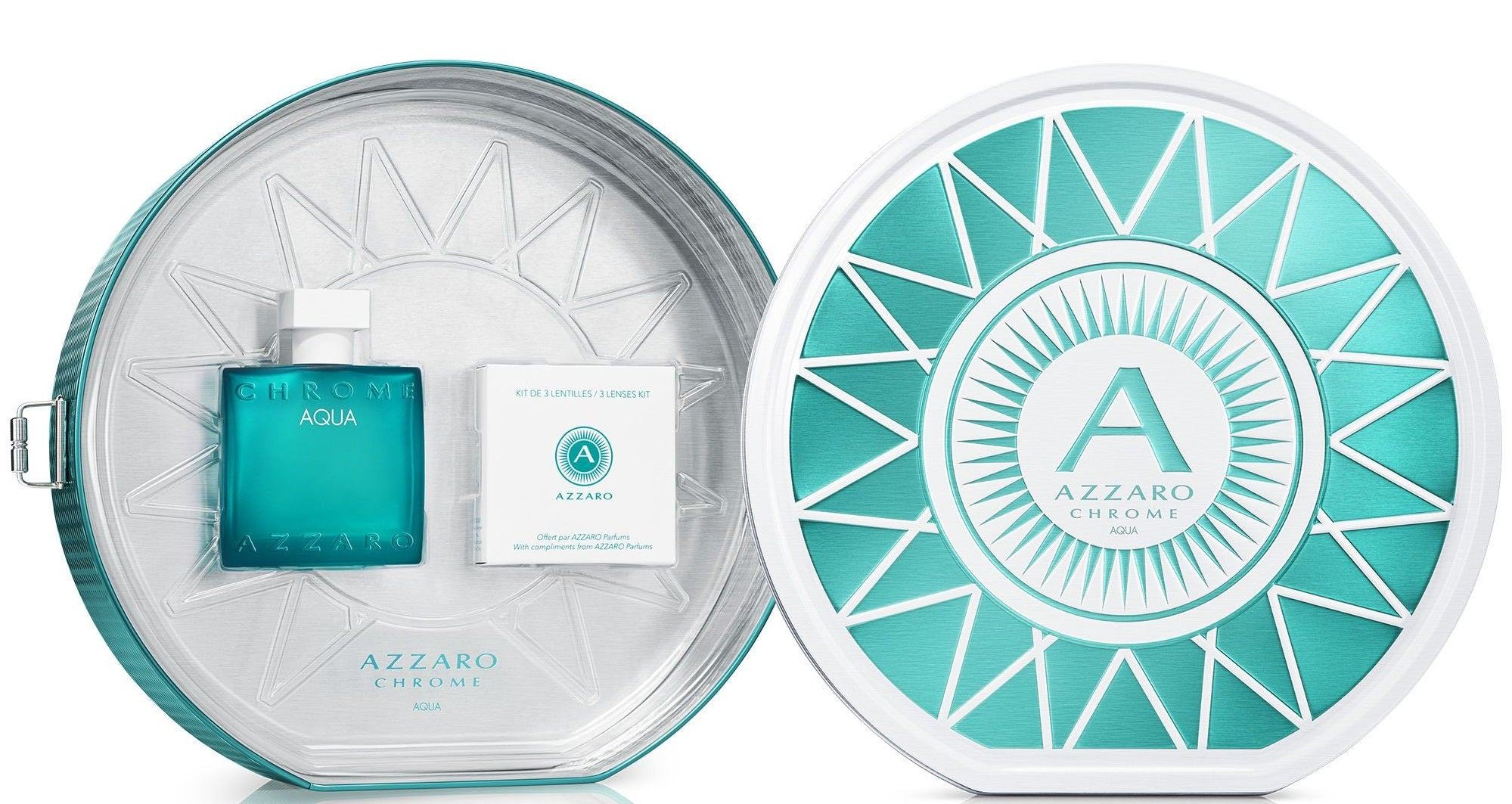 Azzaro Chrome Aqua Gift Set 2pc 50ml EDT