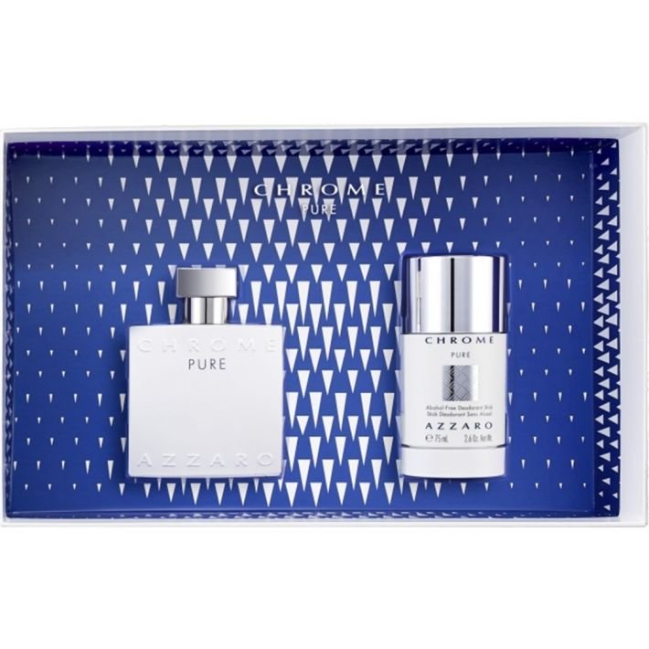 Azzaro Chrome Pure Gift Set 2pc 50ml EDT