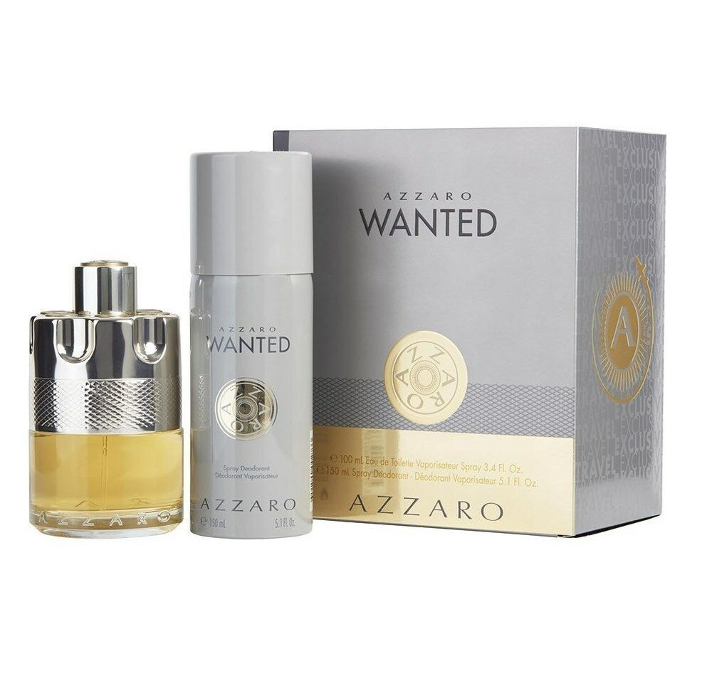 Azzaro Wanted Gift Set 2pc 100ml EDT Travel Exclusive