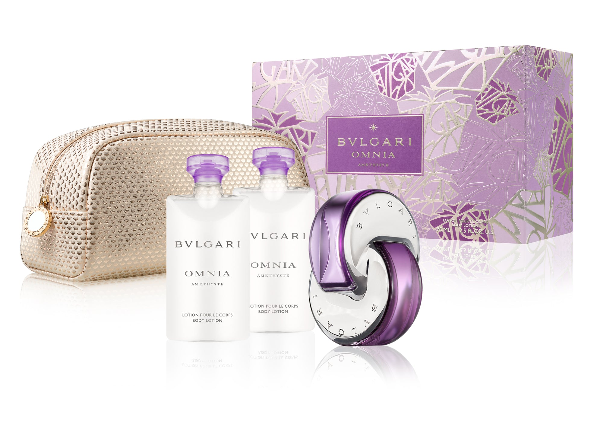 Bvlgari Omnia Amethyste 3pc Gift Set 65ml EDT (with beauty pouch)
