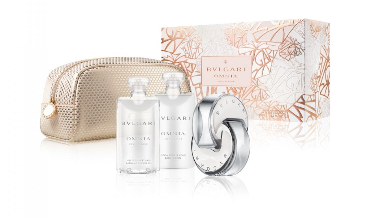 Bvlgari Omnia Crystalline 3pc Gift Set 65ml EDT (with beauty pouch)