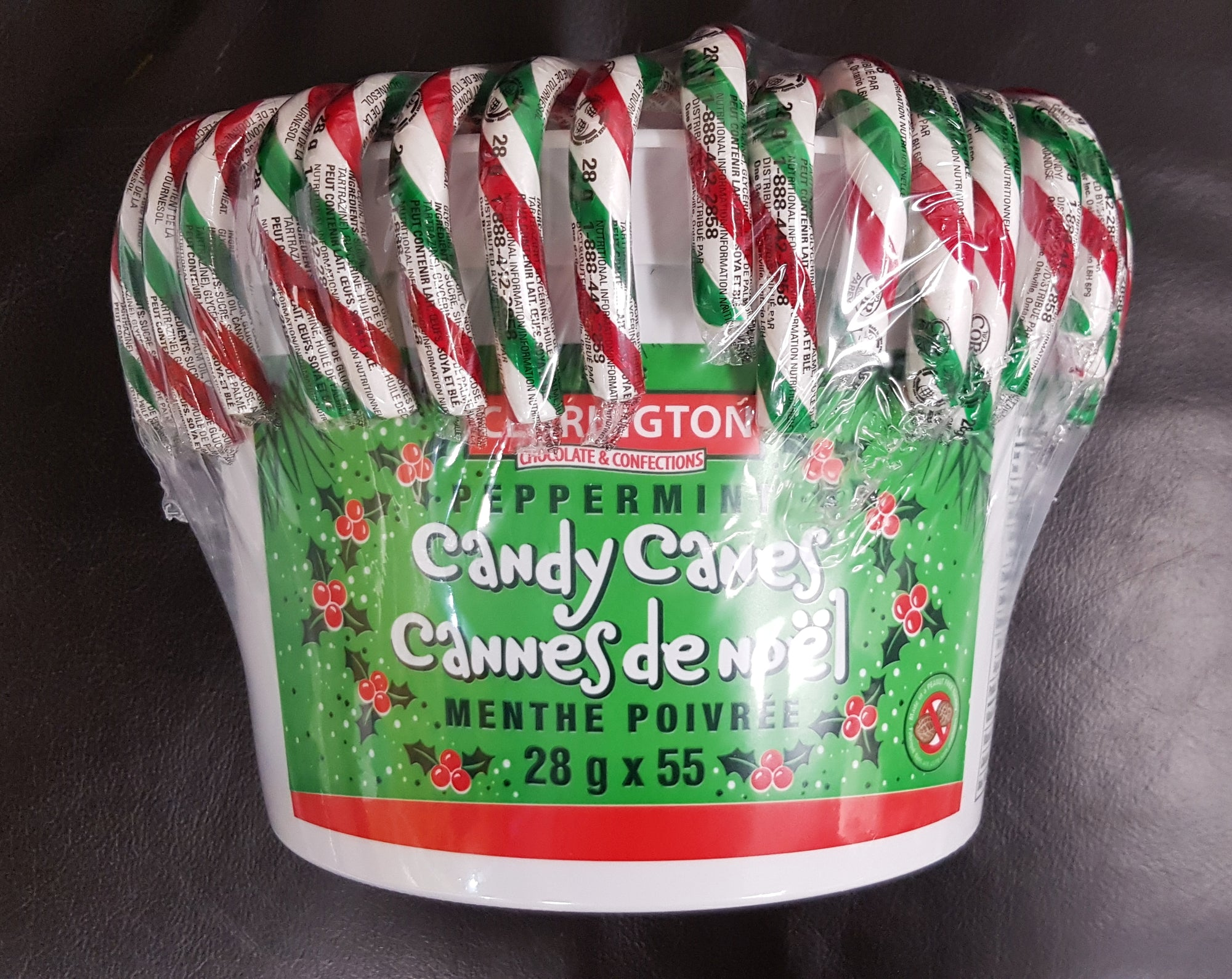 Clarington Peppermint Candy Canes 28g x 55 (CURBSIDE PICKUP ONLY)