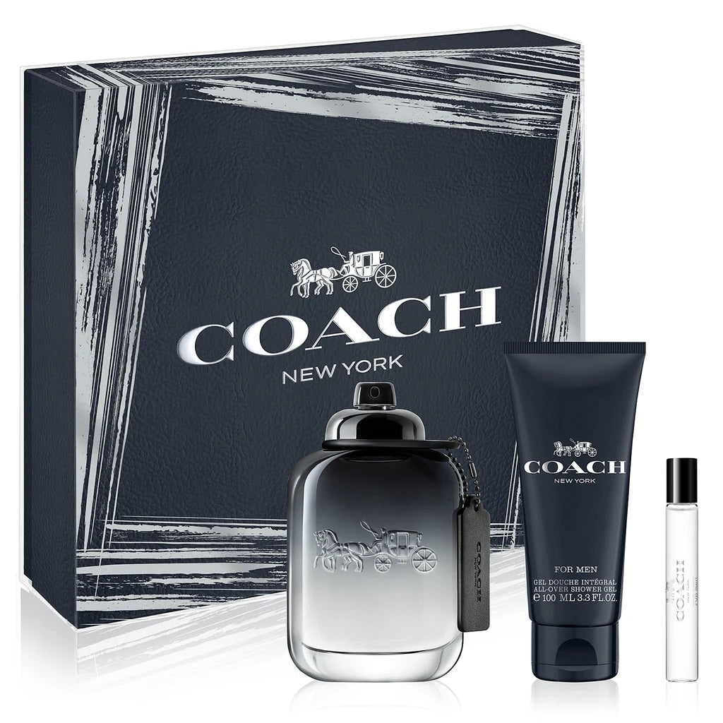 Coach New York for Men Gift Set 3pc 100ml EDT