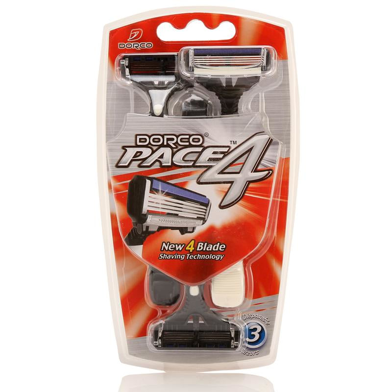 Dorco Pace 4 Disposable Razors 3pc