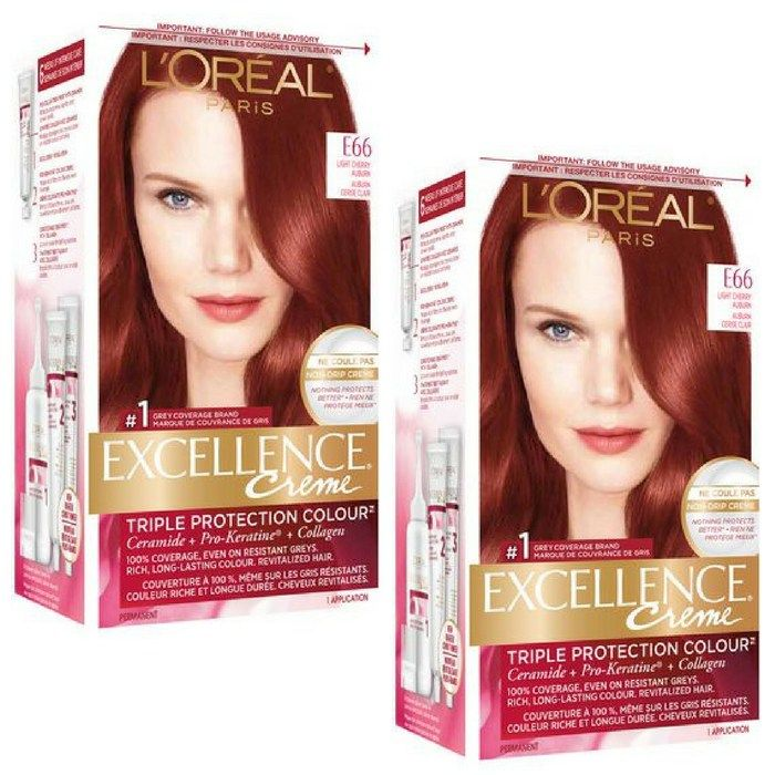 L'Oreal Paris:Excellence Creme Light Cherry Auburn E66