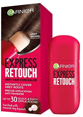 Garnier Express Retouch Grey Hair Concealer (Light Brown) 10mL