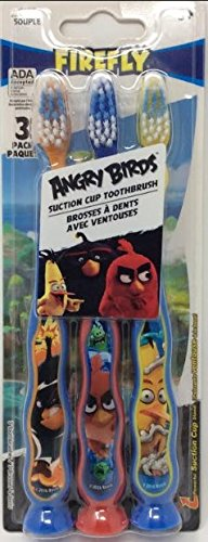 Firefly Angry Birds Toothbrush, Set of 3