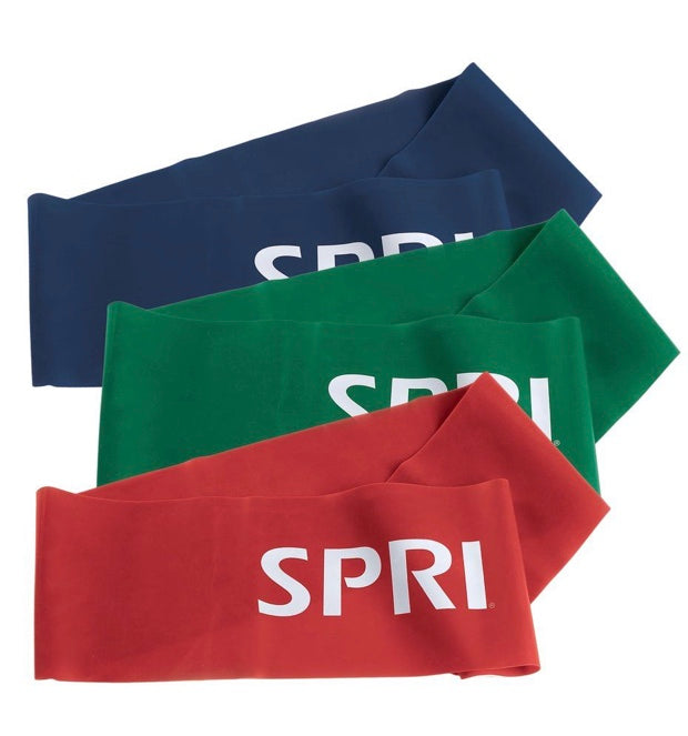 SPRI Resistance Flat Bands (available in assorted colours)