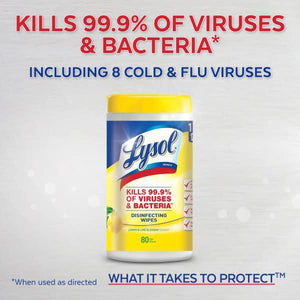 Lysol Disinfecting Surface Wipes Citrus (80 Wipes)