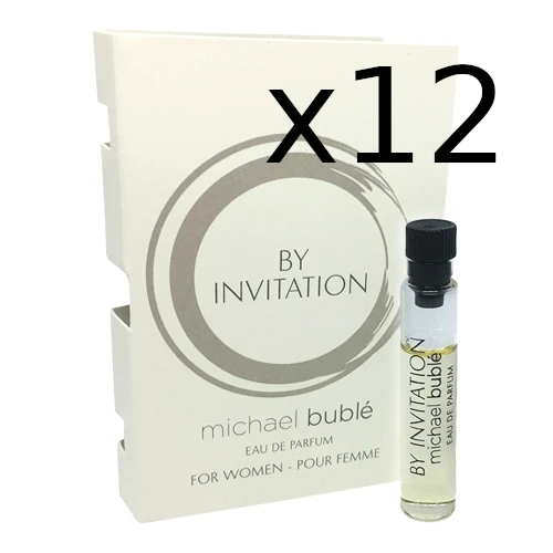 Michael Buble by Invitation 1.5ml EDP WOMEN (mini-vial) 12pc