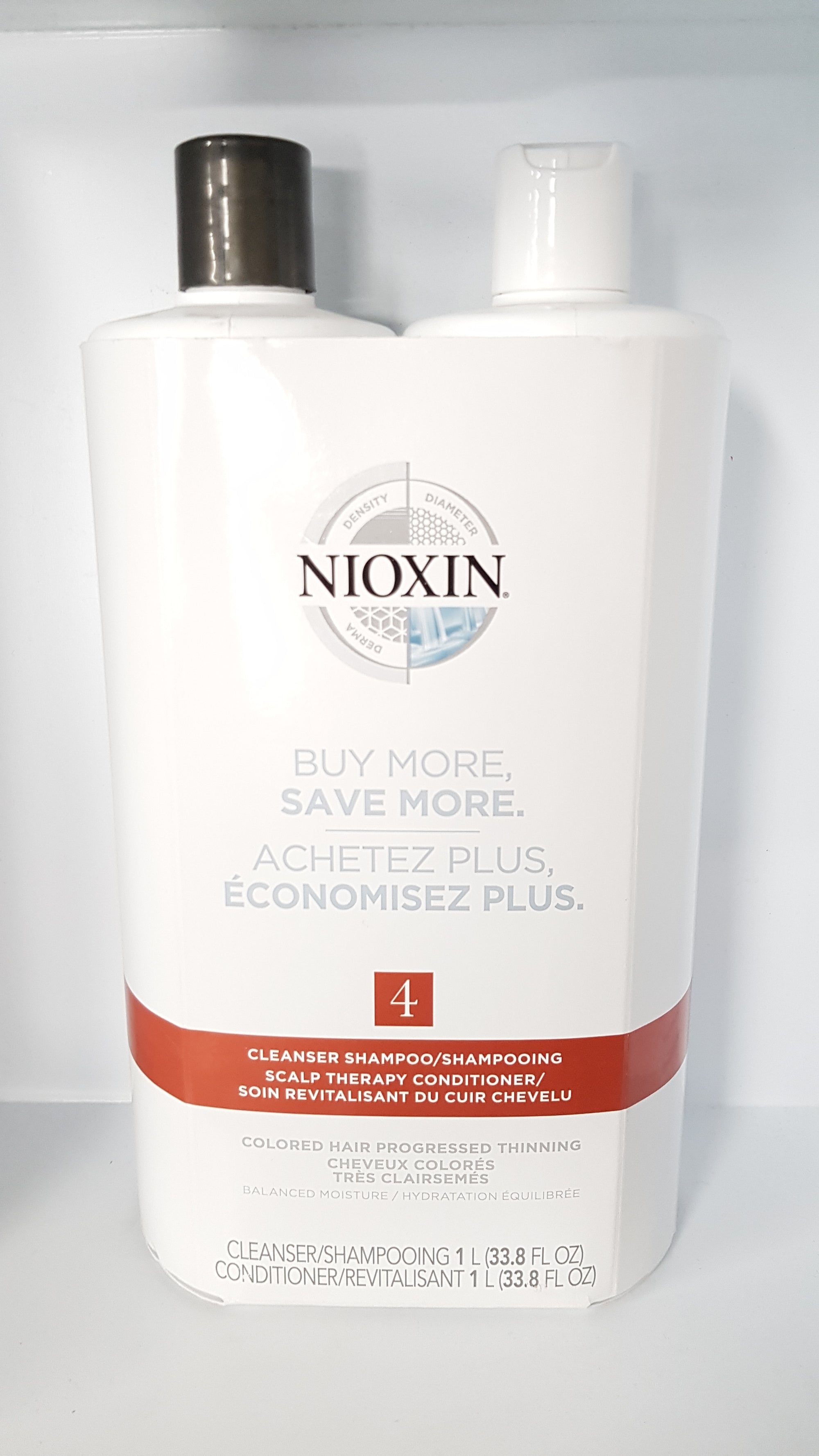 Nioxin System 4 Shampoo and Conditioner 1L Kit
