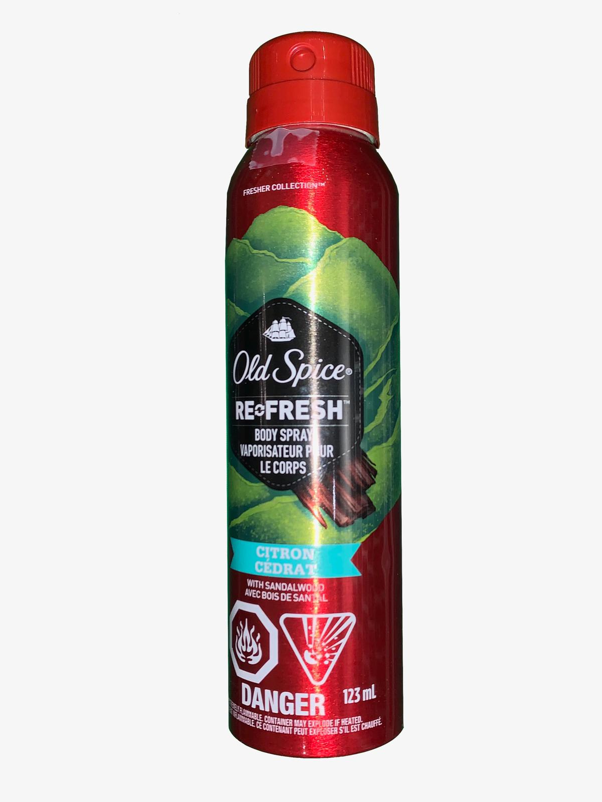 Old Spice Refresh Body Spray Citron with Sandalwood 123ml