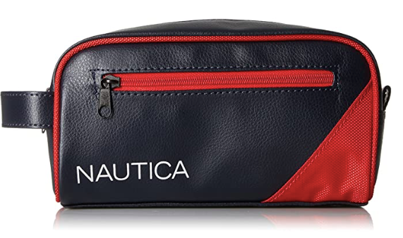 Nautica Toiletries Bag Red and Dark Navy Blue
