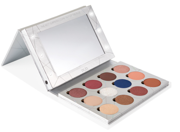 PÜR Out of the Blue Light Up Vanity Eyeshadow Palette