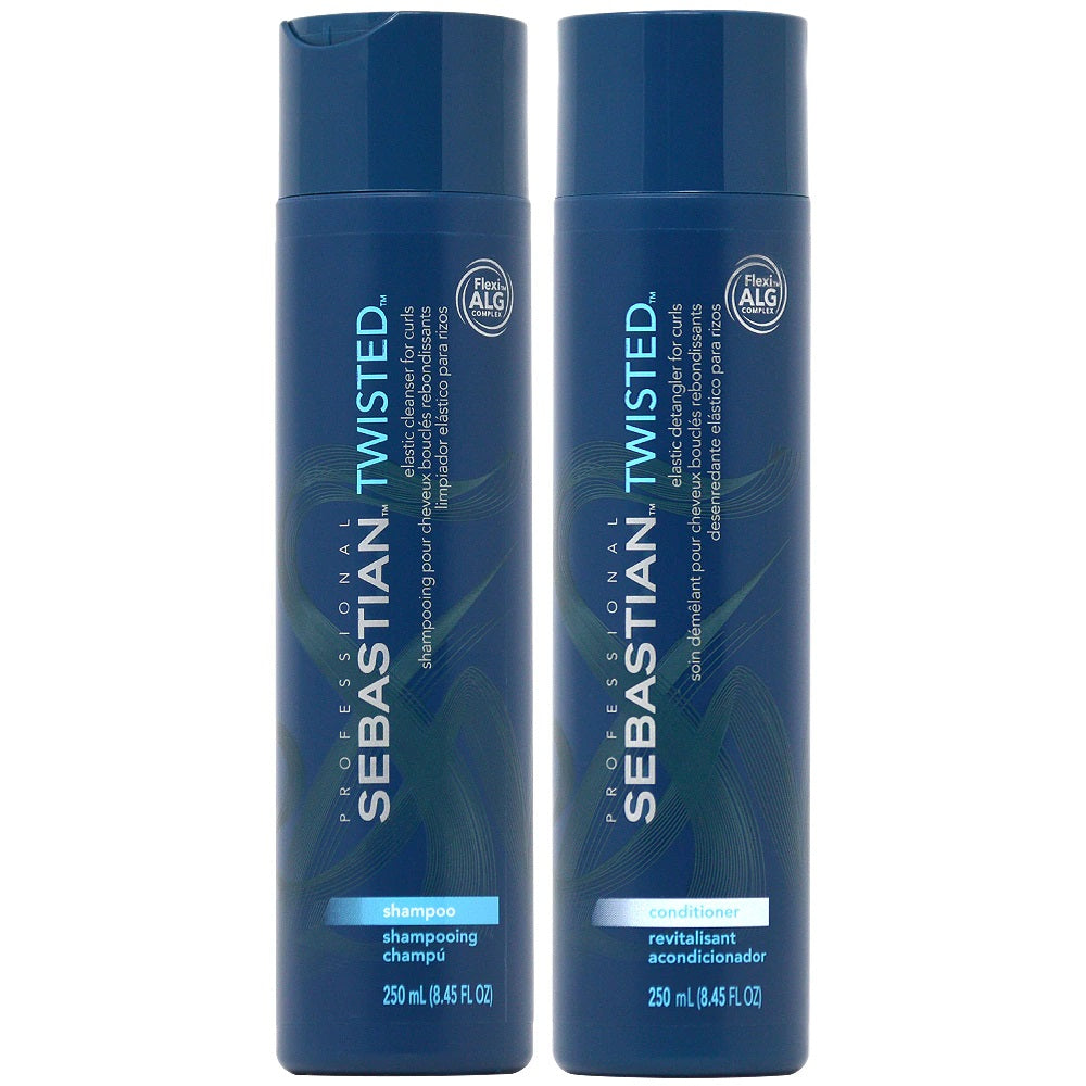 Sebastian Professional Twisted Shampoo and Conditioner 250ml 2pc Set