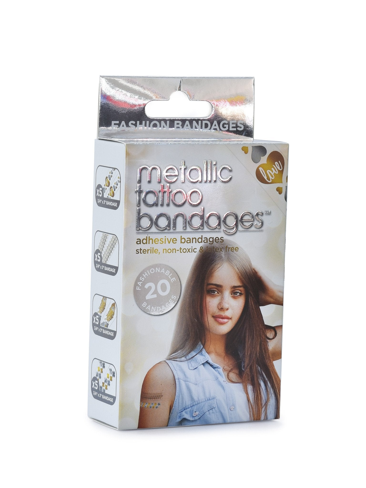 Metallic Tattoo Bandages 20 pack