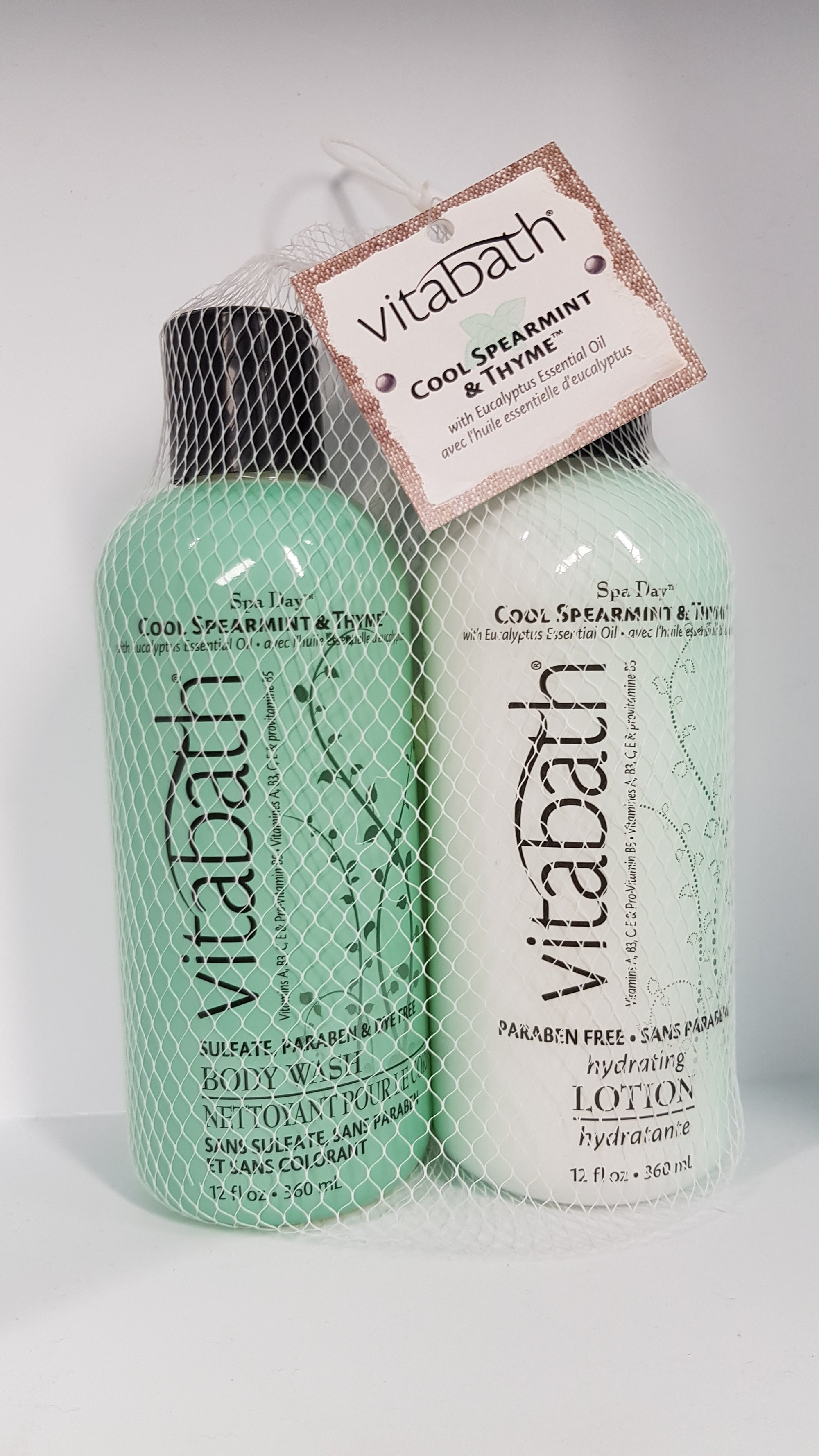 Vitabath Cool Spearmint & Thyme Body Wash and Lotion 2pc Set