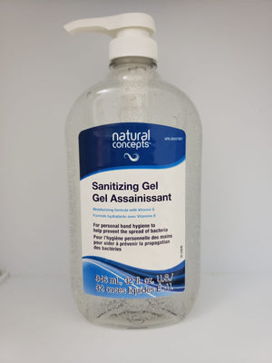 Natural Concepts Sanitizing Gel 946ml with Pump (NEW Product)
