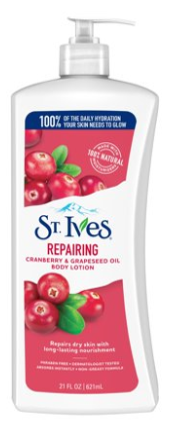 ST. IVES Repairing cranberry and grapeseed oil and body lotion 621mL