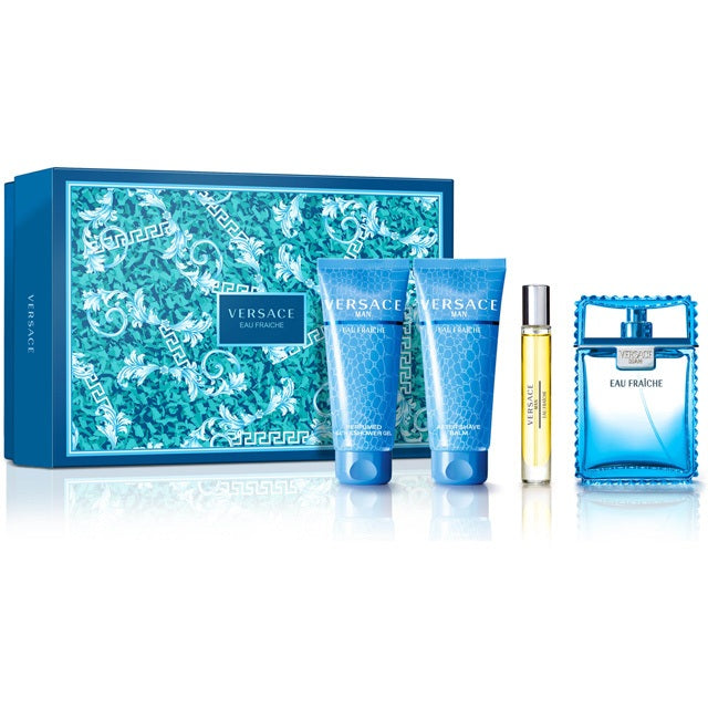 Versace Eau Fraîche EDT 4pc Gift Set for Men