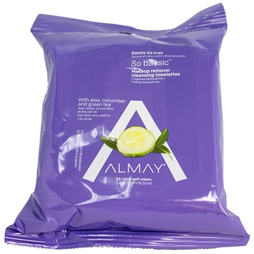 Almay Makeup Remover with Aloe, Cucumber, and green tea 25 wipes