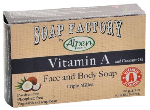 Face and Body Soap by Alpen Vitamin A 120g