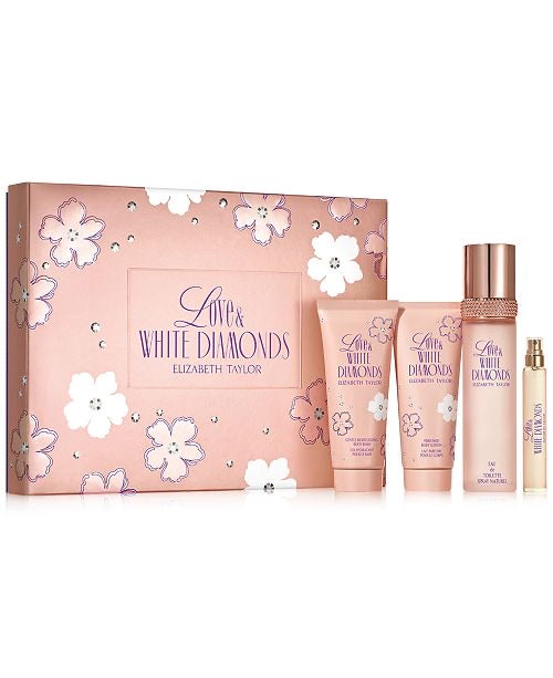 Elizabeth Taylor Love & White Diamonds Gift Set 4pc 100ml