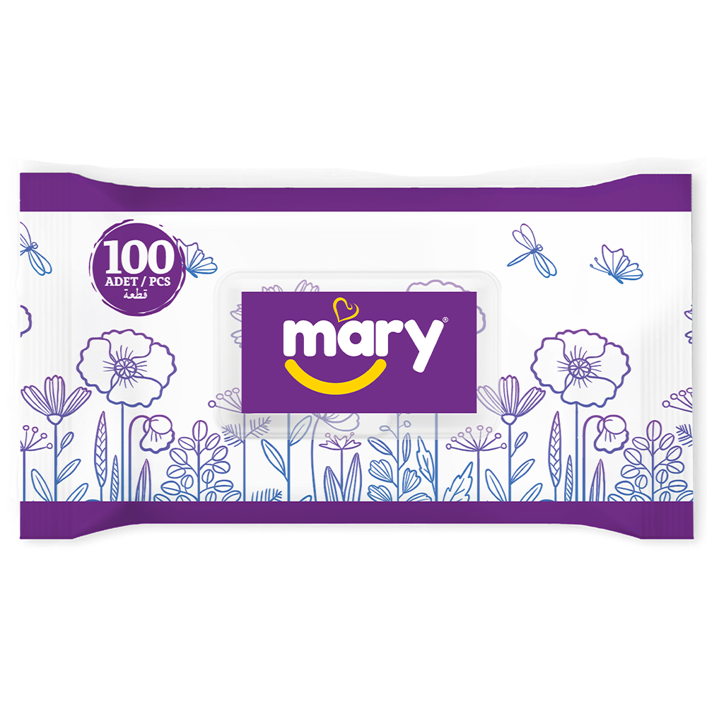 Mary Wet Wipes 100 pieces purple